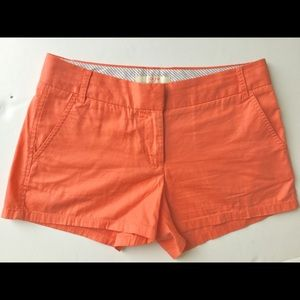 "JCREW like NEW orange Chino shorts 3"""